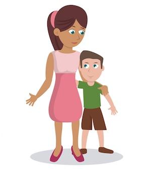 Mãe com o filho adorável