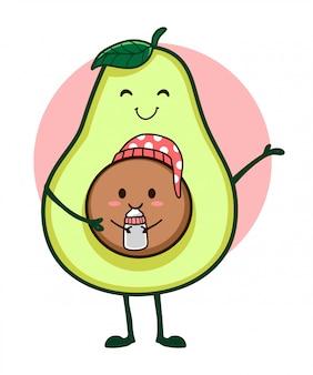 Mãe e bebê abacate