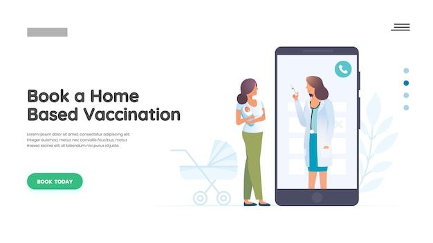Mãe e criança com médico pediatra