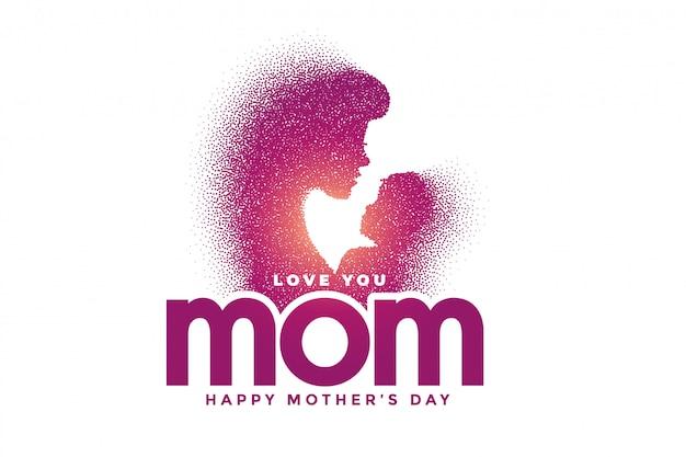 Mãe e filho amam relação para o dia das mães