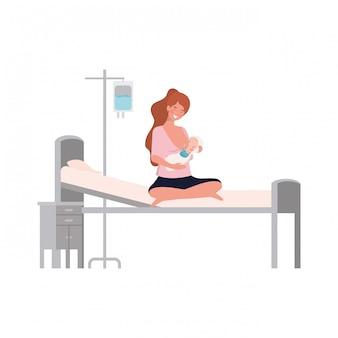 Mãe isolada com bebê