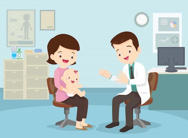 Mãe levou o bebê para ver o médico
