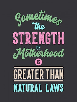 Mãe são fortes letras citações de tipografia