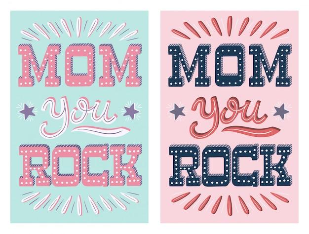 Mãe, você rock - cartão