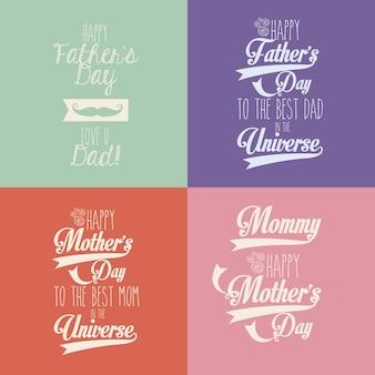 Mães felizes e dia dos pais