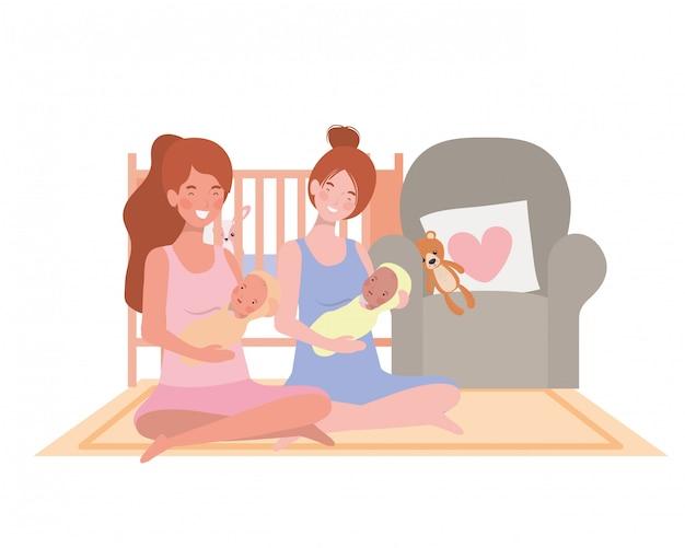 Mães isoladas com bebês