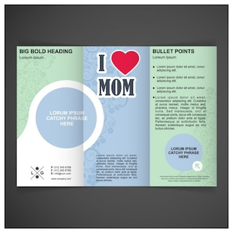 Mães vector day modelo com três dobras brochura