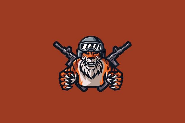 Mafia tiger e sports logo