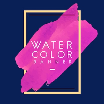 Magenta aquarela banner design vector