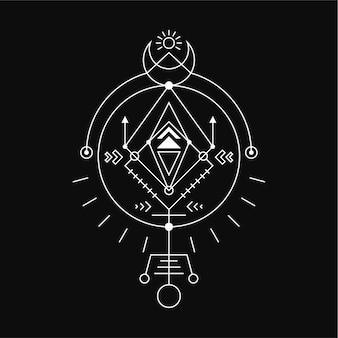 Magia geométrica abstrata do círculo