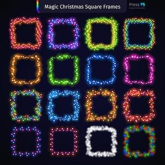 Magic christmas square frames set