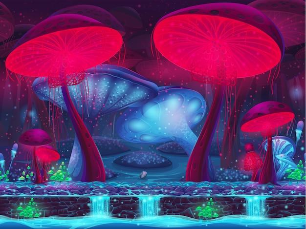 Magic mushroom hollow - sem costura mística