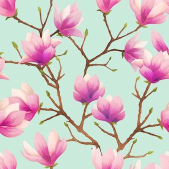 Magnolia_seamless_pattern