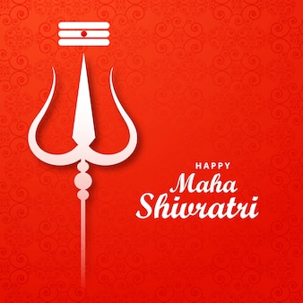 Maha shivratri lord shiva trishul para cartão