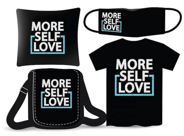 Mais design de letras de amor próprio para camiseta e merchandising