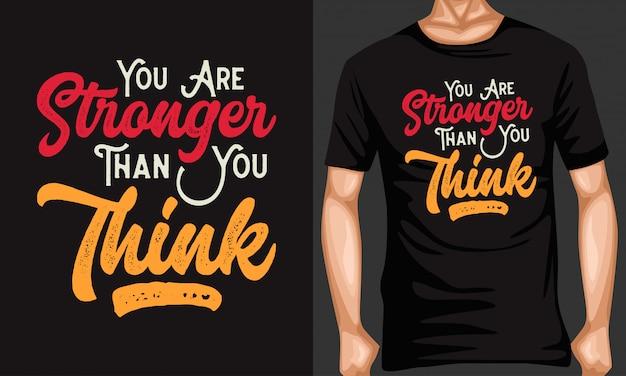 Mais forte do que você pensa citações tipografia