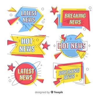 Mais recentes novos banners coloridos