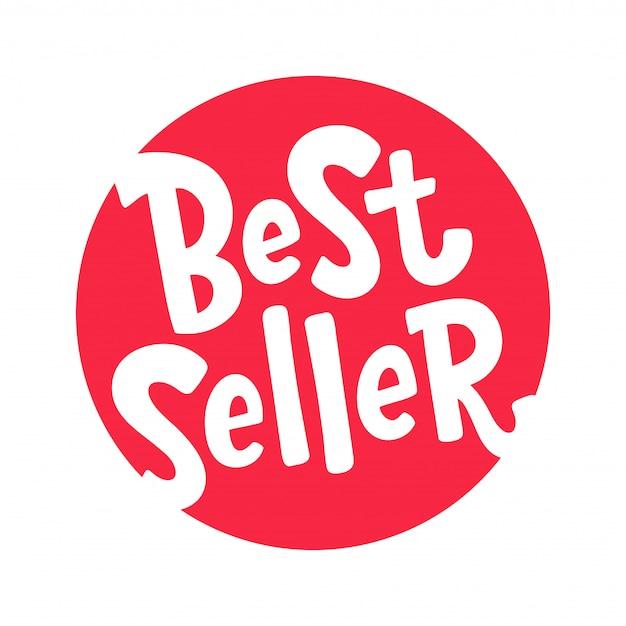 Mais vendidos. elemento de design de letras. palavra mais vendida.