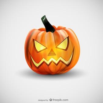Mal abóbora de halloween vector