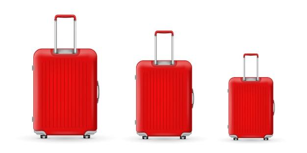 Mala de plástico de viagem em policarbonato, bagagem.
