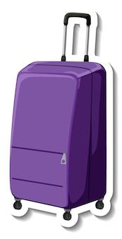 Mala de plástico para viagem com adesivo de roda de desenho animado