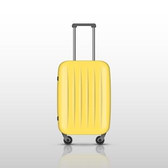 Mala de viagem amarela