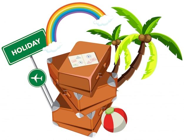 Mala no ícone de férias