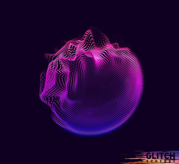 Malha colorida abstrata em fundo escuro. cartão de estilo futurista.