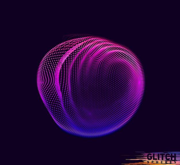 Malha colorida abstrata em fundo escuro
