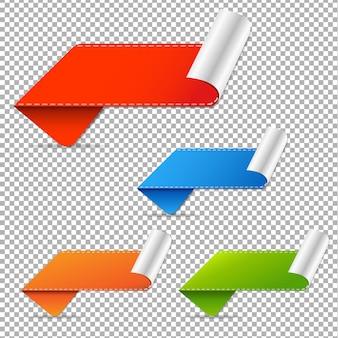 Malha de gradiente de tags de vendas, ilustração
