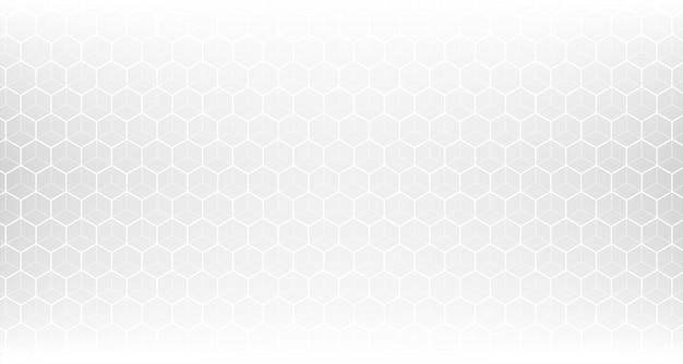 Malha de padrão hexagonal branca limpa