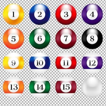 Malha gradiente de bolas de bilhar, ilustração