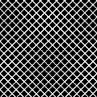 Malha preto verificar ornamento sem costura padrão