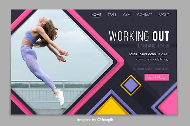 Malhando página de destino de promoção de academia