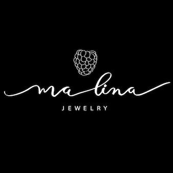 Malina logo para caligrafia de joalheria