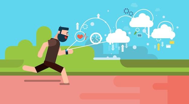 Man run fitness app
