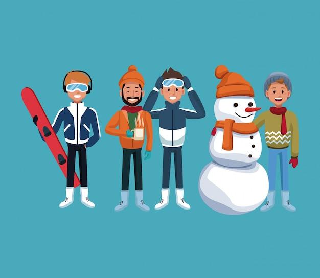 Man winter sports extreme