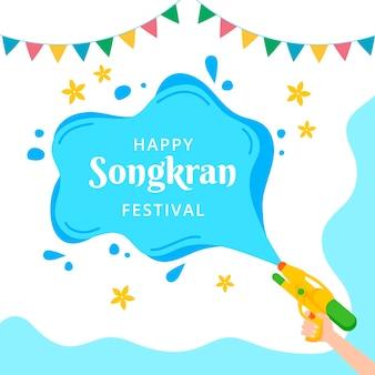 Mancha de água songkran evento