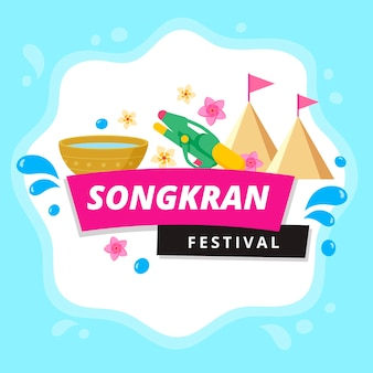 Mancha de água songkran festival