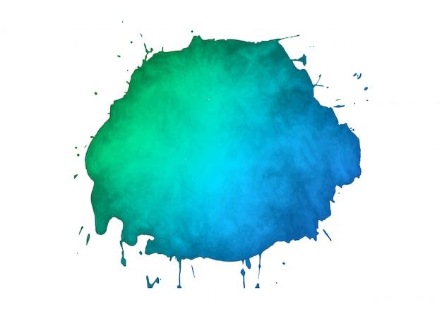 Mancha de aquarela abstrata colorida