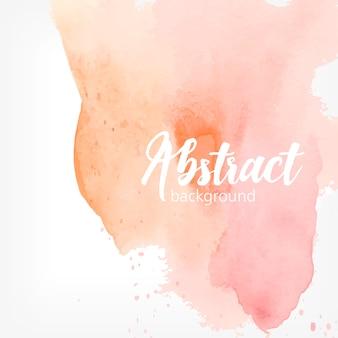 Mancha de aquarela abstrata. cores pastel de pêssego e rosa. fundo realista criativo com lugar para texto.