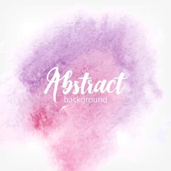 Mancha de aquarela abstrata. cores pastel roxas e rosa. fundo realista criativo com lugar para texto.