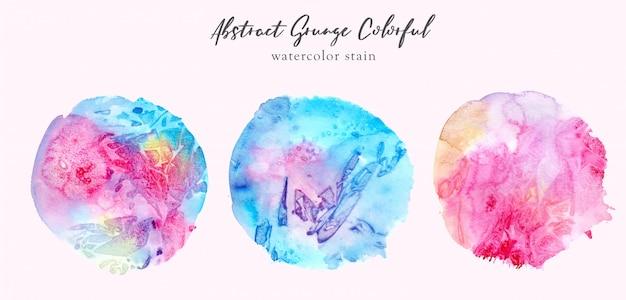 Mancha de aquarela colorida abstrata de grunge