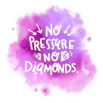 Mancha de aquarela roxa com mensagem de letras positivas Vetor Premium
