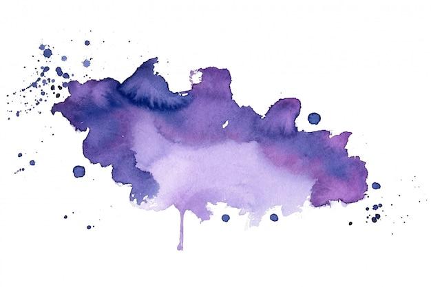Mancha de aquarela roxa textura abstrato