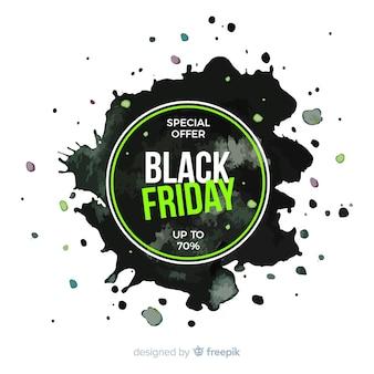 Mancha de aquarela sexta-feira negra