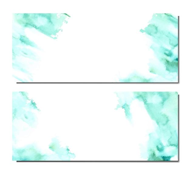 Mancha de aquarela simples como modelo de banner
