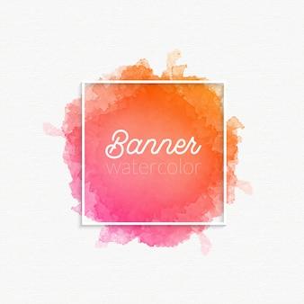 Mancha de gradiente de banner em aquarela