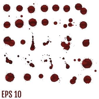 Mancha de sangue, gotas vermelhas, splatter arte pintada