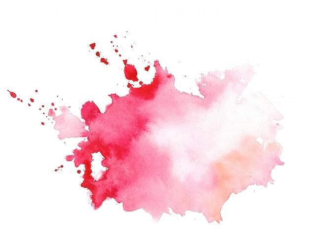 Mancha de textura elegante vermelho aquarela splatter